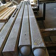 Restpartij Betonpaal glad ronde kop hoekpaal 10x10x310cm Antraciet (2 onderplaten van 26cm) (verkleurd) OW2019