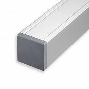 Aluminium Paal met kap 68x68x1860 mm Geanodiseerd