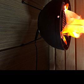 Restpartij Decoration Flame Lamp schaal (uitlopend) OW2019