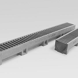 ACO Euroline Goot verzinkt staal rooster 1 m.