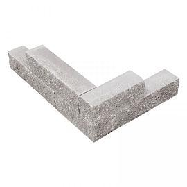 Splitblok noors grijs 38x9x9 cm