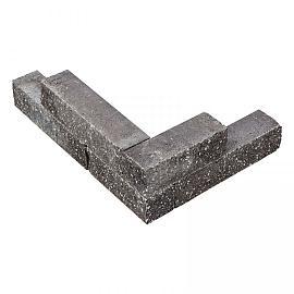 Splitblok noors antraciet 38x9x9 cm