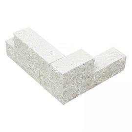 Splitblok noors wit 29x9x9 cm