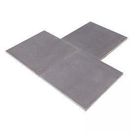 Restpartij Aanbieding Graniettegel Pure Black 80x80x3 cm gevlamd-geborsteld OP=OP