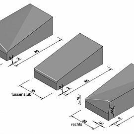 Inriteindstuk 30-60 links tbv 13-15x25  60x20x30 CM