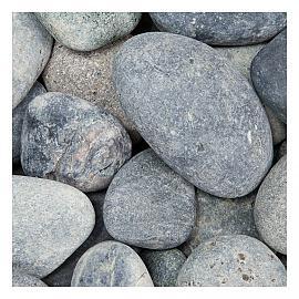 25 KG Beach pebbles 40-60mm zwart