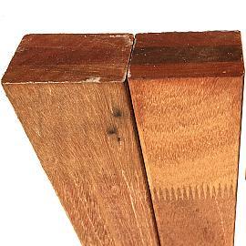 Hardhout Bangkirai Regel - Rib 40x60x3900mm fingerjoint-gelamineerd