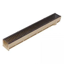 Alfa-drain goot incl. Gietijzeren sleuvenrooster 100x13.6x12.5 cm