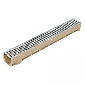 Alfa-drain goot incl. verzinkt stalen sleuvenrooster 100x13.6x12.5 cm