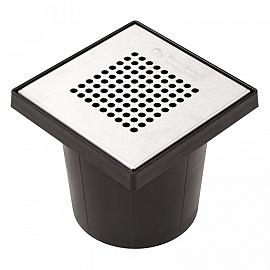 Kolk Vloerput + RVS Deksel 20x20cm Ø75 mm