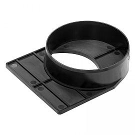 Alfa-drain Afsluitplaat + Mof Ø110  12x14.7x3.4 cm