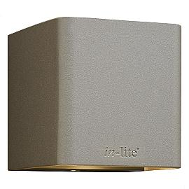 In-Lite Ace Up-Down Wall 100-230V Rose Silver 8.5W