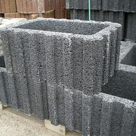 Rasterflor 40x60x25cm zwart