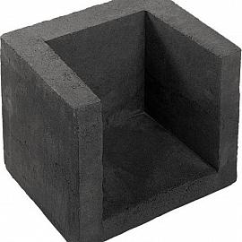 U-hoekelement 40x40x50cm zwart (uitlopend) EX