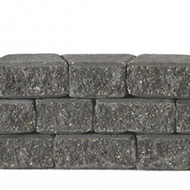 Granubrick 23.1-15.3x20x10 cm Antraciet