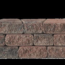 Granubrick 23.1-15.3x20x10 cm Rood-Zwart