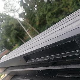 Restpartij Betonpaal Classico Nero 10x10x280 cm hoek