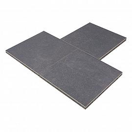 GeoCeramica 60x60x4 cm Impasto Negro