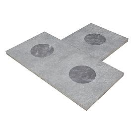 Duostone 60x60x4 cm Dessin Dot Black on Grey Uitlopend