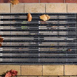 ACO Aluminium tapijtstroken, antraciet 50x100x6,2