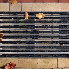 ACO Aluminium tapijtstroken, antraciet. 75x50x4,6