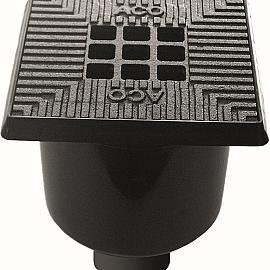 Aco Vloerput bluestone 20x20cm, incl stankslot uitlaat 75-110mm zij-uitlaat