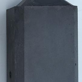 Betonpaal glad diamantkop 3-sponning 10x10x275cm Antraciet