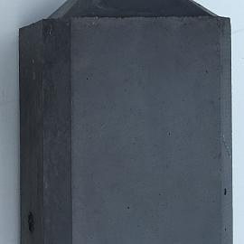 Betonpaal glad diamantkop 3-sponning 10x10x310cm Antraciet (2 onderplaten van 26cm)