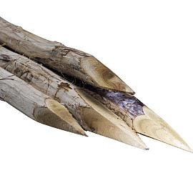 Afrasteringpaal Robinia,  Robinia 200 Ø10-12 cm, Geschild en gepunt,