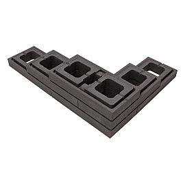 Moodul Muurelement 30x60x9 cm Black