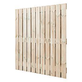 Scherm Recht 24-planks rvs geschroefd 180x180 cm