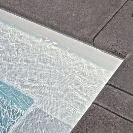 Schellevis Zwembadranden 100x40x5 cm antraciet