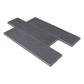 GeoCeramica 30x120x4cm Impasto Negro
