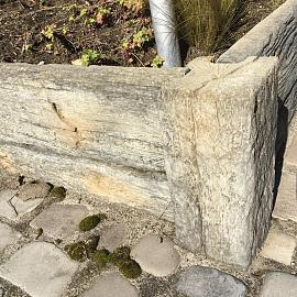 Timberstone hoekpaal 15x15x65 cm Driftwood (niet per post te versturen)