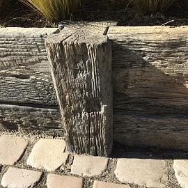 Timberstone tussenpaal 15x15x65 cm Driftwood (niet per post te versturen)