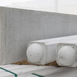 Betonpaal glad ronde kop t.b.v. bloembak tussenpaal 10x10x100cm Grijs-Wit