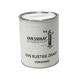 Rustiek Zwart,   1 ltr, Blik à 1 liter,