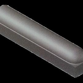 Stootband 18x20x100 cm Met Voet 1x Rond Grijs