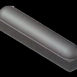Stootband 18x20x100 cm Met Voet 2x Rond Grijs