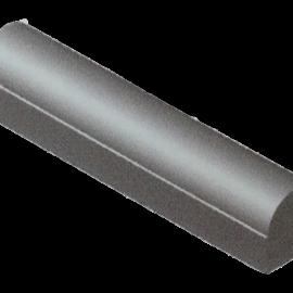 Stootband 18x20x100 cm Met Voet 2x Vlak Grijs