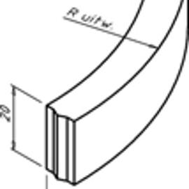 Bochtband 10x20x78.5 cm R=5 Grijs HD