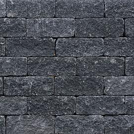 Wallblock Tumbled 12x12x30cm Antraciet