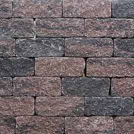 Wallblock Tumbled 12x12x30cm Brons