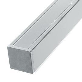 Aluminium Paal met kap 68x68x2720 mm Lichtgrijs gepoedercoat met houten kern
