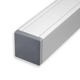 Aluminium Paal met kap 88x88x2720 mm Antraciet gepoedercoat houten kern 2700mm