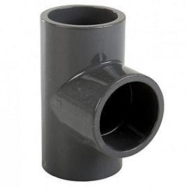 PVC 110 T stuk 90° 3xM Sn 4-110mm