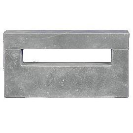 Classic Blue Stone inbouw brievenbus medium 35x18x5 cm gewicht 8 kg