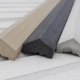 Betonnen afdekkappen 180cm Grijs-Wit met verjonging (voor betonschutting)