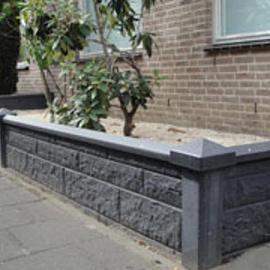 Betonnen afdekmuts Hoek t.b.v. de betonpalen Antraciet