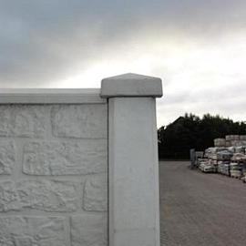 Betonnen afdekmuts Hoek t.b.v. de betonpalen Grijs-Wit